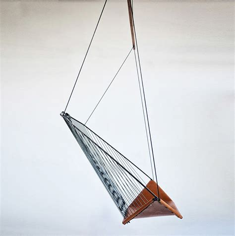 modern hanging chair the solo cello a modern steel and leather hanging chair