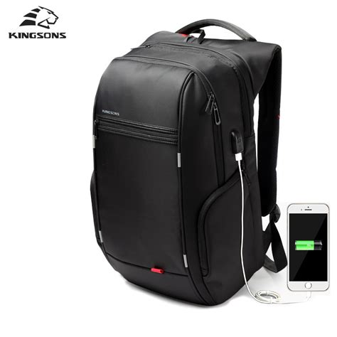 kingsons brand external usb charge computer bag notebook
