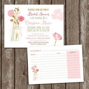 sale digital printable jar bridal shower invitations recipe card bridal invite