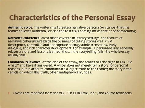 Characteristics Of A Friend Essay by Personal Writing Power Point