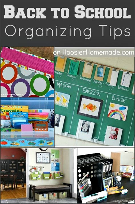 organization tips for school back to school organizing tips