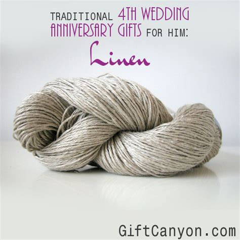 Wedding Anniversary Gift Linen traditional 4th wedding anniversary gifts for him linen