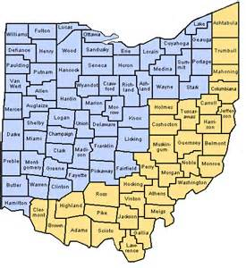 Counties In Ohio Map by Odjfs Online County Agency Directory And Web Sites