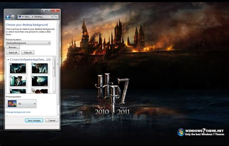 themes for windows 7 harry potter harry potter 7 windows 7 theme download