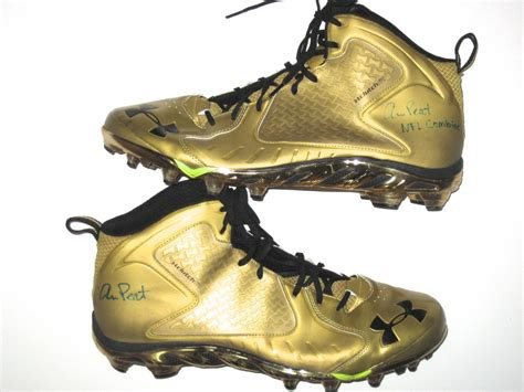 Armoir Cleats by Andrus Peat 2015 Nfl Combine Worn Armour Cleats