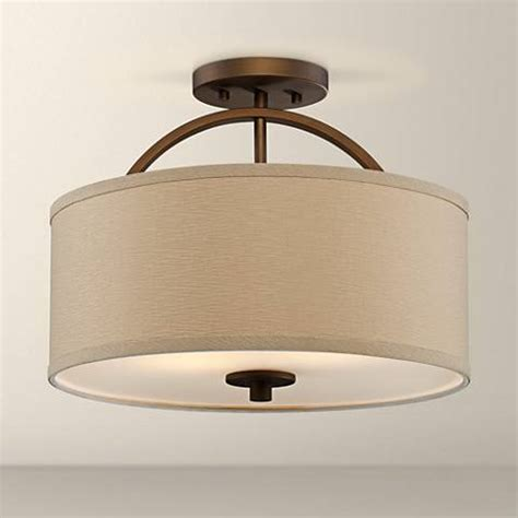 Wide Ceiling Light Halsted Brushed Bronze Semi Flush 15 Quot Wide Ceiling Light T8954 Ls Plus