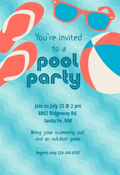 pool invitation template pool stuff free printable summer invitation