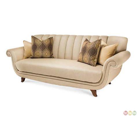 michael amini sofas michael amini cloche bourbon channel back fabric
