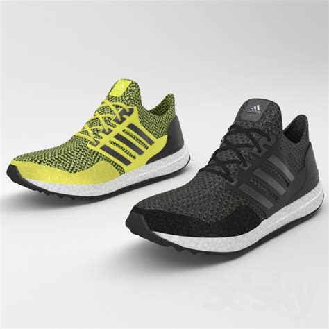 Adidas Ultra Boost Running 3 3d models clothes and shoes adidas ultra boost running
