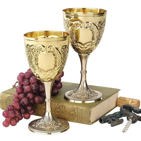 wine goblets rhenish rhine wine time slips