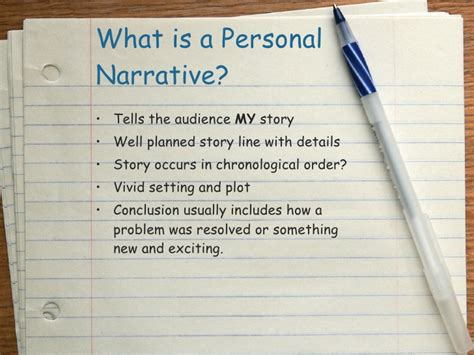 Personal Essay 3rd Grade by Personal Narrative