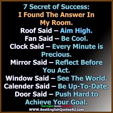 The Seccret Of Success 7 secret of success best quotes sayings