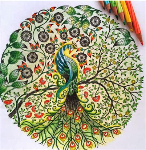 secret garden coloring book finished 秘密花园涂色作品欣赏 优秀涂色作品 美容美发 久久信息网
