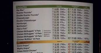 Price Australia Principle Traveler Mcdonalds Australia Price List