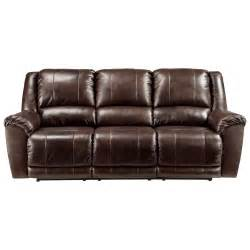 Ashley Recliner Sofa by Signature Design By Ashley Yancy Leather Match Reclining