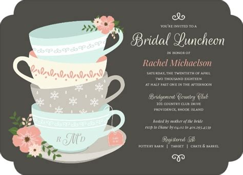Vintage Tea Bridal Shower Invitations by Vintage Tea Cups Bridal Shower Invitation Bridal Shower