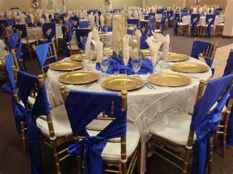 blue gold themes ideas royal blue and gold wedding party decoration theme navy