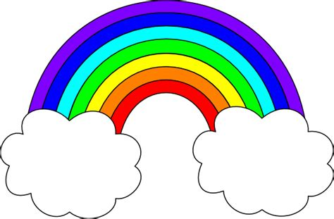 Rainbow Clipart rainbow with clouds clip at clker vector clip royalty free domain