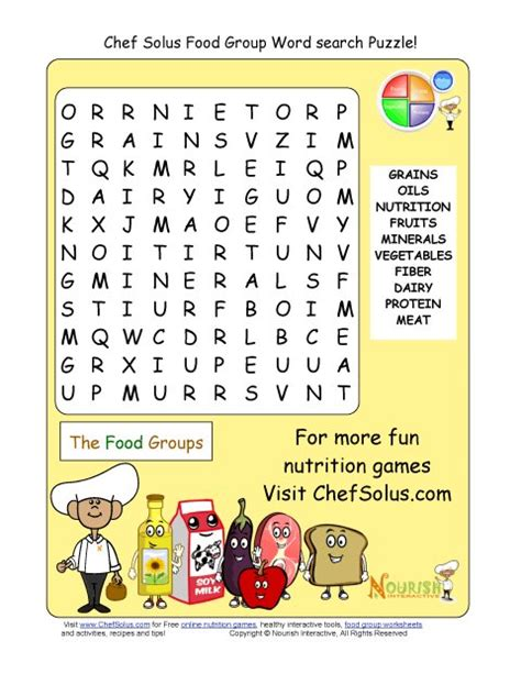 printable word search cooking search results for healthy food word search for kids