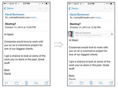 Email Layout For Iphone | linkedin intro ios app can read your emails in iphone