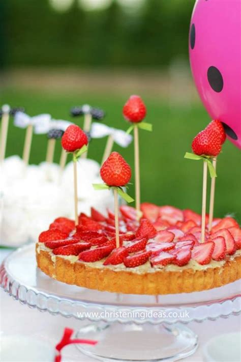 kara s party ideas strawberry christening party ideas supplies decorations