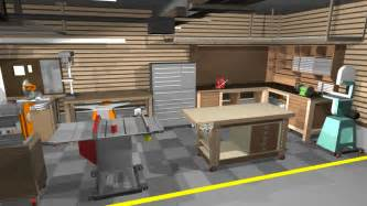 Garage Workshop Design by Garage Shop Corner L Shape Workbench Design Woodworking