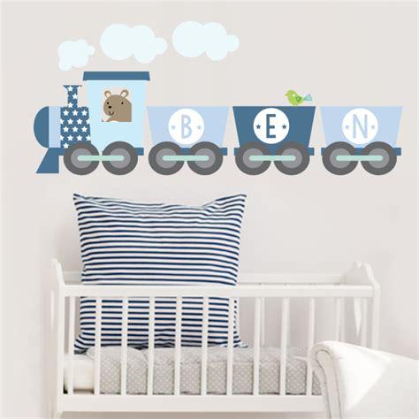 Train Wall Stickers train name fabric wall sticker littleprints