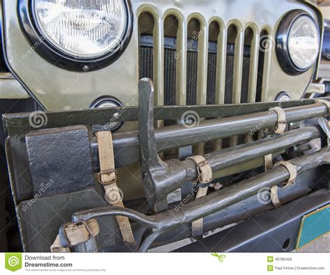 military jeep front front grille of an old army jeep stock image image 46780459