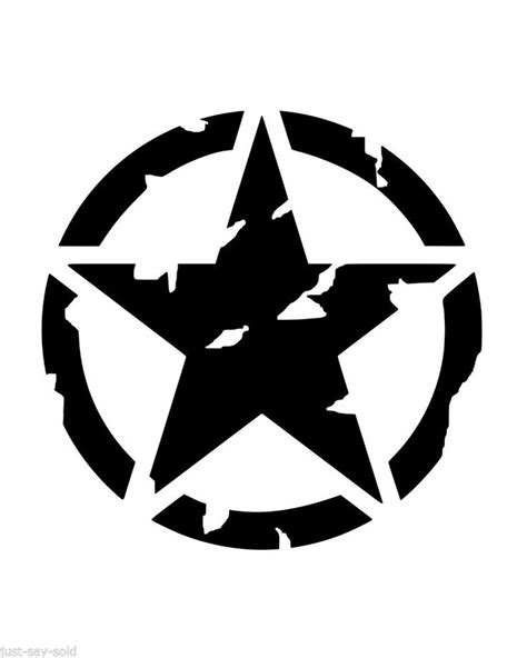 jeep vinyl decals details about distressed hood invasion circle star vinyl
