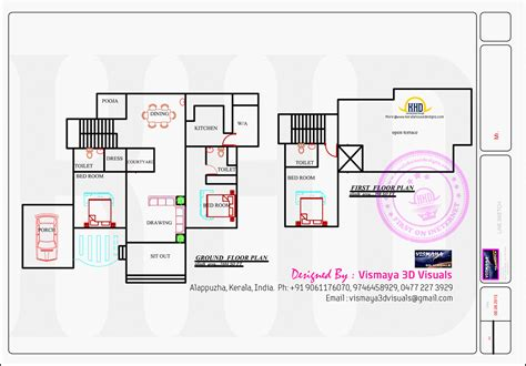 kerala home design with free floor plan kerala model villa with open courtyard kerala home