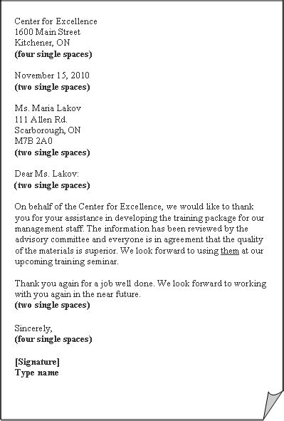 business letter semi block format exle business letter format activity 1
