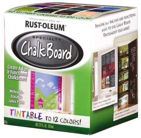 rust oleum 174 specialty tintable chalk board paint 1 qt