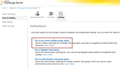 Office 365 Mailbox Auditing Exchange Server 2010 Mailbox Audit Logging Guide