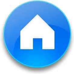Home Blue Rounded Blue Home Button Free Icon In Format For Free