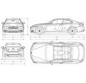 BMW 4 Coupe 2013 Blueprint  Download Free For