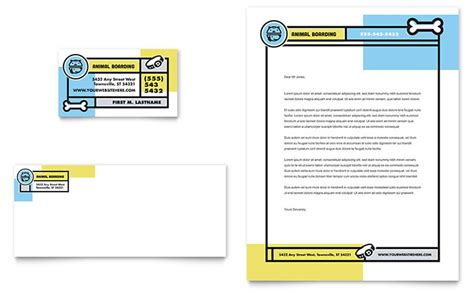 Shelter Insurance Letterhead pet boarding business card letterhead template word