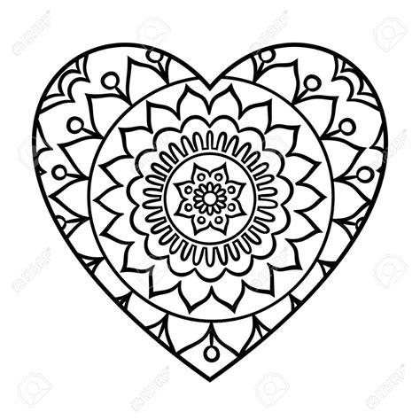 Kinderen Love Kleurplaat Doodle Hart Mandala Kleurplaat