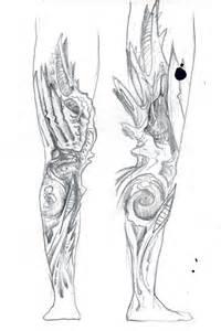 biomechanic leg tattoo sketch 2 by hyperartery on deviantart
