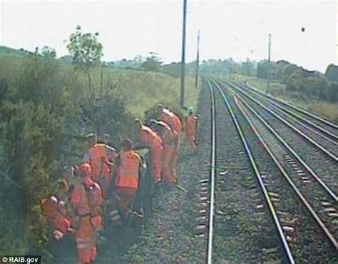 Nine Rail Workers Jump Out Of The Way Of A 100mph Train
