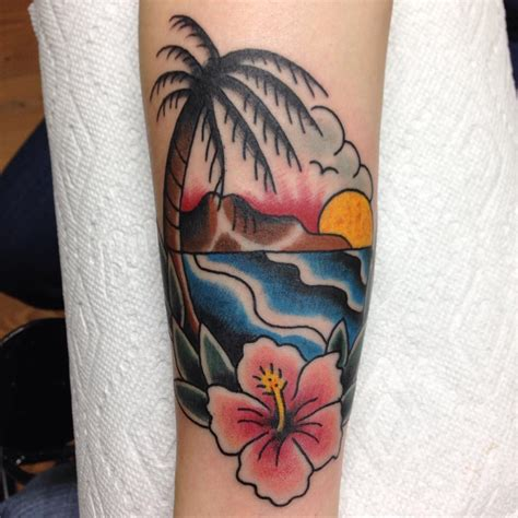 beach tattoo 120 best palm tree designs and meaning ideas of