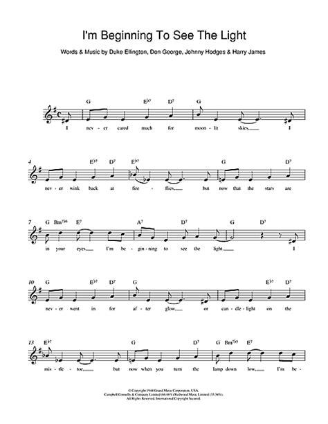 i see the light lyrics i m beginning to see the light chords by duke ellington