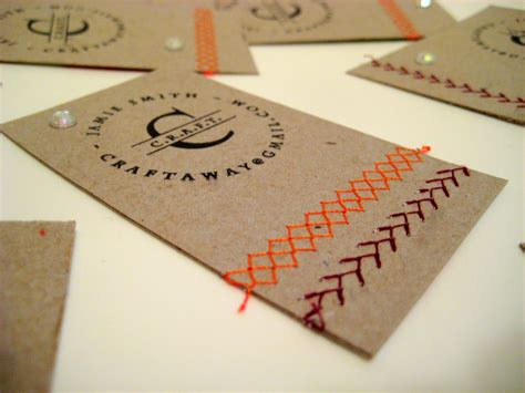 crafty card diy business cards think crafts by createforless