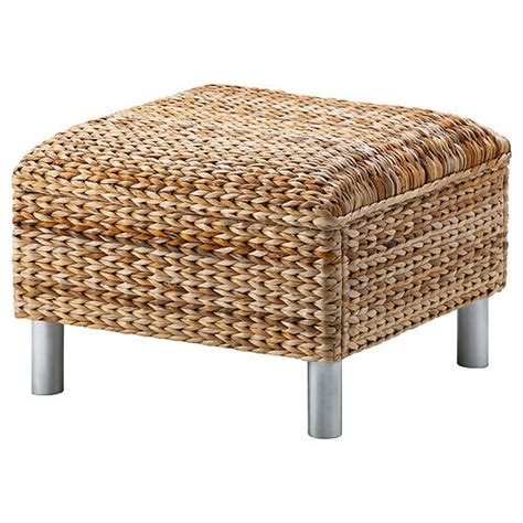 Wicker Ottoman Ikea Ikea Klippan Footstool Ottoman Banana Fibers Woven Rattan Stool New Nip Ikea Fiber And Ottomans