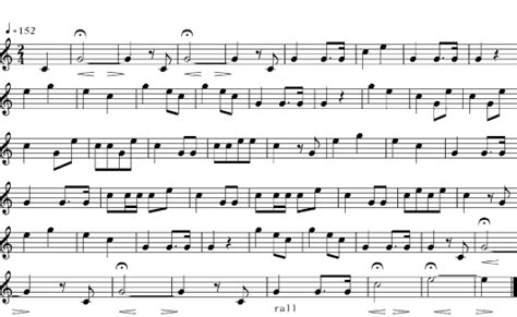 final section of a musical piece anzac day sheet music for bugle calls