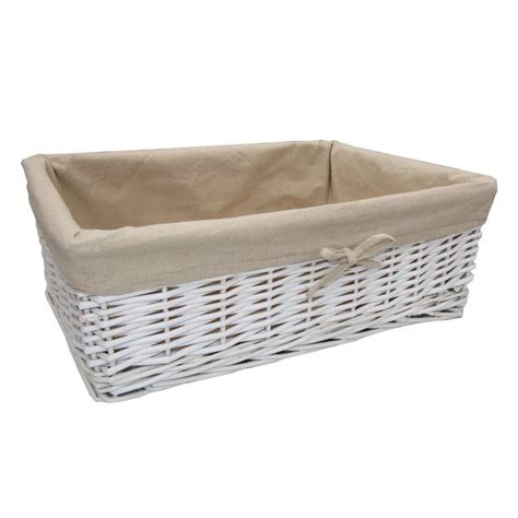 White Basket Rectangle Google Search Bathroom Ideas White Rattan Bathroom Storage