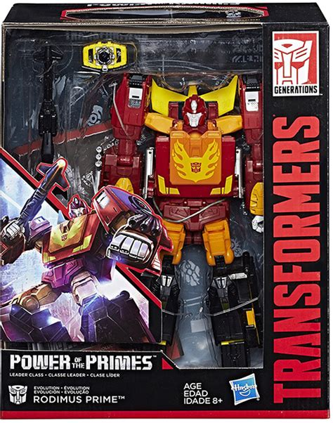 Hasbro Transformers Power Of The Primes Leader Class Optimus Prime Rodimus Prime Transformers Generations Power Of The