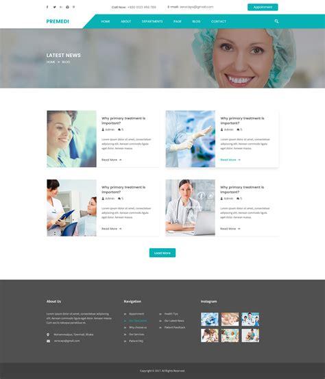 blogger templates for hospital premedi hospital and medical multipurpose psd template