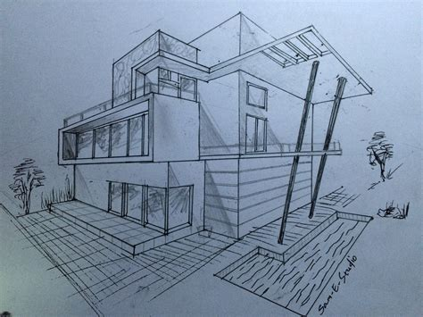 Drawing 2 Point Perspective Buildings by Two Point Perspective Drawing Buildings Architecture