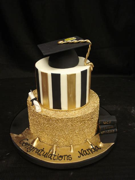 Graduation Cakes by Ucf Graduation Cake With Buttercream Base Fondant Banner