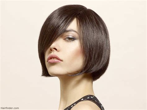 short haircuts chin length bob chin length bob hairstyle with a curve that tickles the